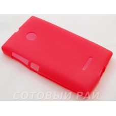 Крышка Nokia 435/532 Microsoft Just Силикон (Малиновая)