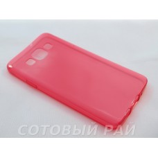 Крышка Samsung A300f (A3) Just Slim Силикон (Красная)