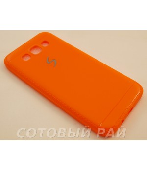 Крышка Samsung E5 (E500h) Силикон Paik (Оранжевая)