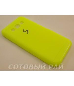 Крышка Samsung E5 (E500h) Силикон Paik (Желтая)