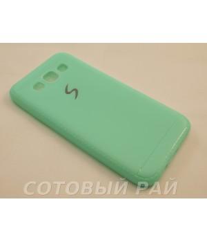Крышка Samsung E5 (E500h) Силикон Paik (Бирюзовая)