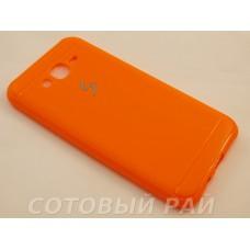 Крышка Samsung J700f (J7) Силикон Paik (Оранжевая)
