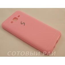 Крышка Samsung J700f (J7) Силикон Paik (Розовая)