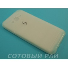Крышка Samsung J700f (J7) Силикон Paik (Белая)