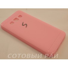 Крышка Samsung A300f (A3) Paik Силикон (Розовая)