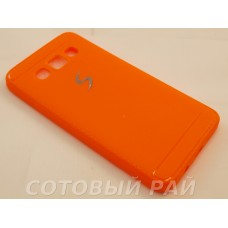 Крышка Samsung A300f (A3) Paik Силикон (Оранжевая)