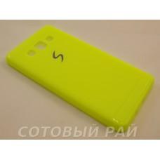 Крышка Samsung A500f (A5) Paik Силикон (Желтая)