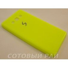 Крышка Samsung A700f (A7) Paik Силикон (Желтая)