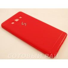 Крышка Samsung A700f (A7) Paik Силикон (Красная)