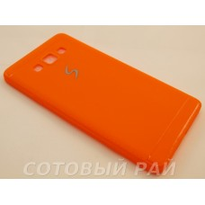 Крышка Samsung A700f (A7) Paik Силикон (Оранжевая)