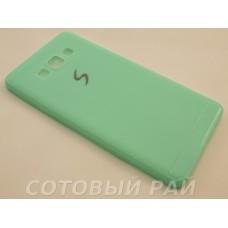 Крышка Samsung A700f (A7) Paik Силикон (ГолуБая)