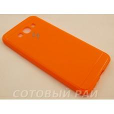 Крышка Samsung A800f (A8) Paik Силикон (Оранжевая)