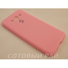 Крышка Samsung A800f (A8) Paik Силикон (Розовая)