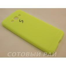 Крышка Samsung A800f (A8) Paik Силикон (Желтая)