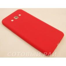 Крышка Samsung A800f (A8) Paik Силикон (Красная)