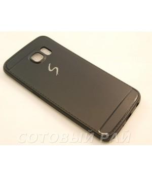 Крышка Samsung G925f (S6 Edge) Paik Силикон (Черная)