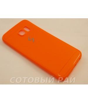 Крышка Samsung G925f (S6 Edge) Paik Силикон (Оранжевая)
