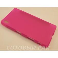 Крышка Sony Xperia Z5 (E6683) Just силикон (Розовая)