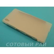 Крышка Sony Xperia Z5 (E6683) Just силикон (Белая)