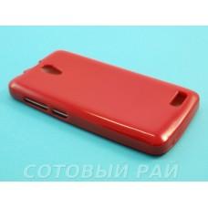 Крышка Lenovo A319 Paik силикон (Красная)