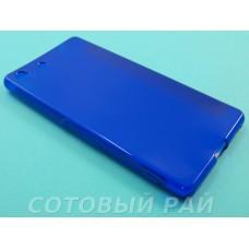 Крышка Sony Xperia M5 (E5633) Just Slim силикон (Синяя)