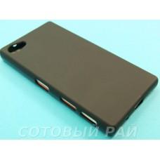 Крышка Sony Xperia Z5 Compact Силикон Just (Черная)